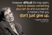 Stephen Hawking / The man who devoted his whole to science...