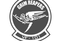 Sierra Hotel Aeronautics Squadron Decals / http://sierrahotel.net/VF-101-Grim-Reapers-p71.html