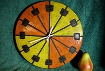 pottery clocks