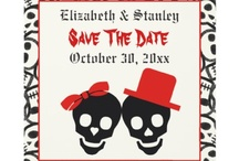 Skull/Halloween wedding theme