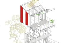 Architecture drawing and layout