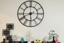 Modern & Industrial Large Clocks / Love large, #vintage, #modern, #industrial, #contemporary wall and mantle #clocks
