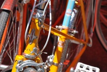 Vintage Bicycles from Re-Cycle Art Aspen / Beautifully restored vintage bicycles by bike artist, Billy Taylor- http://recycleartaspen.com/. Catch him at the Aspen Farmer's Market. / by Alex Capshaw-Taylor