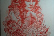 Women tattoos / by Jessica Vandever Ebey