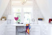 Home Decor - Offices and Workspaces / A collection of beautiful workspaces sure to inspire. / by Fabric Paper Glue