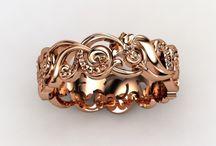 Rose gold ,rings /earrings/pendants