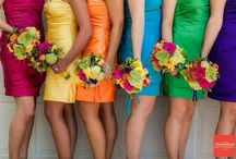 BRIDESMAIDS DRESSES - Same Style Dress, Multi-coloured / Style your bridesmaids in the same dress but in different colours to really make your Wedding photos pop!