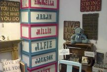 Toyboxes / Our extremely popular personalised toy boxes just £60 each with any name up 6 letters then just £2 per extra letter.  Choice of Autentico Chalk Paint colours.