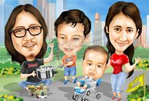 CARICATURE-2 / Caricature faces for souvenirs and ornaments. Booking: +6285648612673. Pin BB: 74757aoa. Email: karikaturlucu@yahoo.com. Facebook: http://www.facebook.com/wajah.karikatur