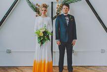 Retro Tropical Wedding Inspiration / Fun Tropical Wedding Ideas