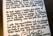 resignation cake