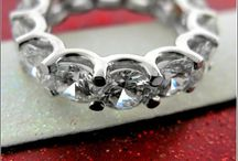 CZ Eternity Wedding Bands / High quality cubic zirconia in precious 14k white gold and Platinum.