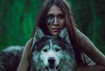 Girls n dog