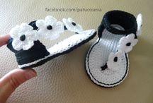 scarpine bebe crochet neonata