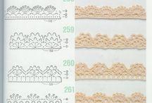 Crochet lace edgings