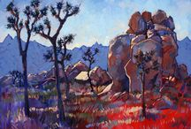 Boulders and Joshua trees