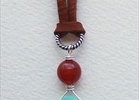 Jewelry - Leather Cord / Using leather cord to string necklaces and bracelets