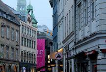 Billeder af byer / By og shopping