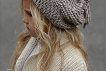 Girl knitted hats