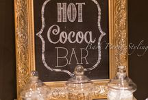 Hot chocolate bar  / For my sisters wedding in October