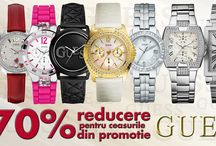 Promotii / Ceasmania este cel mai important site romanesc privind vanzarea ceasurilor si bijuteriilor marca Guess, GC si Escape.