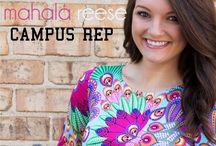 Mahala Reese Campus Reps / by Mahala Reese Boutique