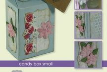 CraftEmotions Candy Box small / CraftEmotions Stanzschablone: Candy Box small, 46x85x32 mm
