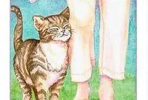 câlin de chat