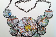 Map Art and Jewelry