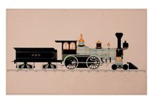 Collection of drawn locomotives by William Halsey / Collection of William Halsey (about 1845 – 1900) includes 84 images of locomotives of American rail-road era (1863 – 1890 years).