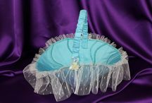 Wedding Garters, Ring bearer pillows and flower girl baskets / Make your wedding even more beautiful with garters, ring bearer pillows and/or flower girl baskets designed and made from Mother's and/or Grandmothers wedding dress.  See more at www.marilynarnolddesigns.com; follow us on facebook at www.facebook.com/marilynarnolddesigns