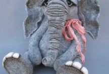 Felted elephants