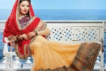 Crystal Lehenga's / Very Beautiful and elegant designer Lehenga Choli for wedding and ceremonial occasions with beautiful embroidery work done. Includes Contrast matching Duppatta.
