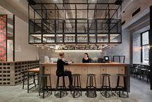 restaurace, bary, kavárny