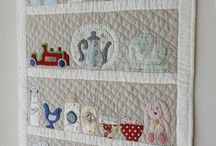 Quilting:Wall Hangings / Once again Pinterest is full of examples of wall hangings and little quilts that are adorable.  I just wanted to have a wall for these darling quilts.