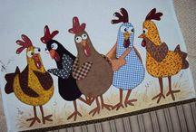 Patchwork galinhas