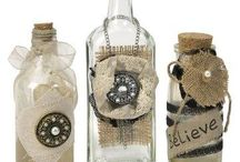 DIY decorated bottles & jars