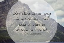 Chesterton / Gilbert Keith Chesterton and the wonderful wisdom he wrote.