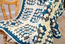 crochet chunky granny square blanket