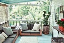 Trouvailles Pinterest: Terrasses couvertes / Quoi de mieux que de que pouvoir profiter de la belle saison tout en ne craignant pas la pluie.