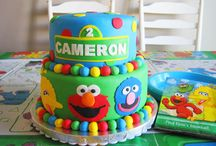Sesame Street Cake & Party  / The lovable Sesame Street characters all ready to party! Such a bright and happy party theme. You might like to take a peek at my many other Cake and Party Boards too.