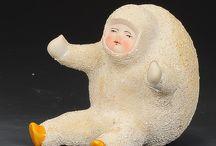 Muñecos nieve porcelana