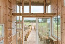 winter wood cabin