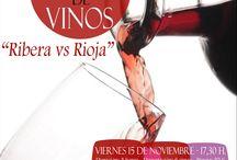"""2013-II TALLER DE CATA DE VINOS """"RIOJA & RIBERA"""". / Este segundo taller de Cata de vinos se celebró el día 15 de Noviembre en la Biblioteca """"Anexo"""" de Los Rosales""""."""