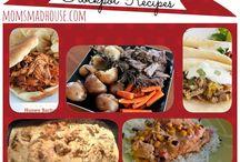 crockpot and recipes I use often