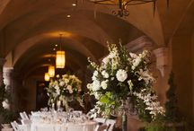 Outdoor Wedding Receptions / Arizona Wedding Venue. Tuscan style courtyard, stately colonnade, stone fireplace, fountain and vine arches. In Arizona serving Gilbert, Chandler, Phoenix, Tempe, Scottsdale, Mesa, Paradise Valley, Queen Creek, Ahwatukee, Glendale, Peoria.