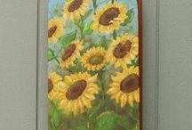 Painted ironing boards
