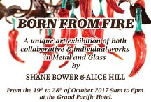 Born from Fire – Art exhibition, Suva, Fiji. The art of Glass and Metal