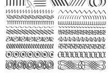 Шрифты и вензеля