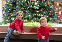 Holidays / Holiday Lights, atmosphere, people, happiness, Santa, Lights, Snow